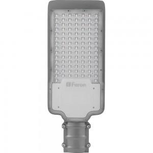 Светодиодный уличный консольный светильник Feron SP2922 50W 3000K 230V, серый