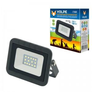 Прожектор светодиодный Volpe 10W 3000K ULF-Q511 10W/WW IP65 220-240В Black UL-00003286