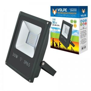 Прожектор светодиодный Volpe 30W ULF-Q509 30W/DW Sensor IP65 210-240B Black UL-00001911