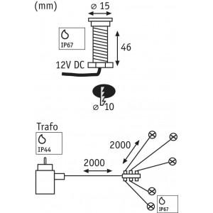 Ландшафтный светодиодный светильник Paulmann Special Boden MicroPen 93754