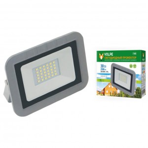 Прожектор светодиодный Volpe 10W 6500К ULF-Q591 30W/DW IP65 220-240В Silver UL-00003589
