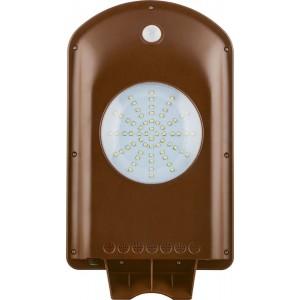 Светодиодный уличный фонарь консольный на солнечной батарее Feron SP2332 5W 6400K с датчиком движения, серый