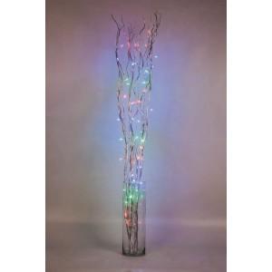 Ветка декоративная светодиодная Feron LD206B-indoor c RGB подсветкой от сети, высота 120 см