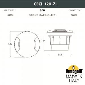 Грунтовый светильник FUMAGALLI CECI 120-2L 2F2.000.000.AXG1L