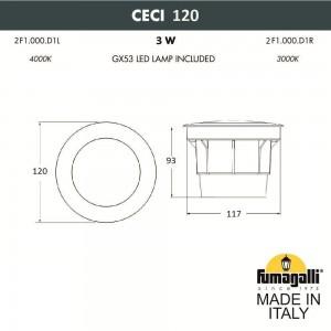 Грунтовый светильник FUMAGALLI CECI 120 2F1.000.000.AXG1L