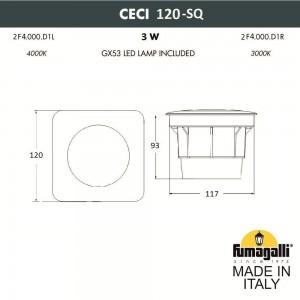 Грунтовый светильник FUMAGALLI CECI 120-SQ 2F4.000.000.AXG1L
