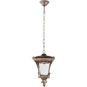 Светильник садово-парковый Feron 8003M четырехгранный на цепочке 100W E27 230V, черное золото