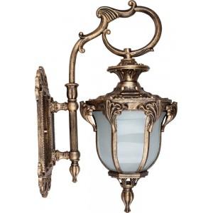 Светильник садово-парковый Feron PL4052 шестигранный на стену вниз 60W 230V E27, черное золото