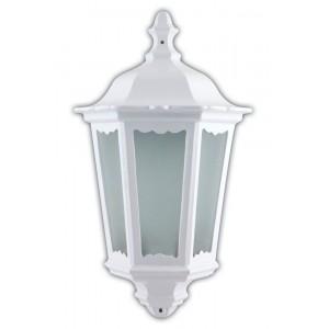 Светильник садово-парковый Feron 6206 шестигранный на стену накладной 60W E27 230V, белый