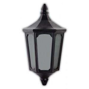 Светильник садово-парковый Feron 4206 четырехгранный на стену вверх 60W E27 230V, черный