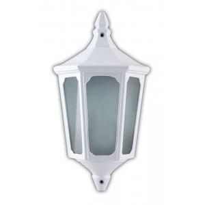 Светильник садово-парковый Feron 4206 четырехгранный на стену вверх 60W E27 230V, белый