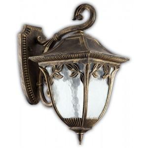 Светильник садово-парковый Feron PL4082 четырехгранный на стену вниз 100W E27 230V, черное золото