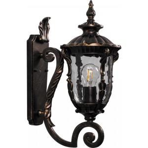 Светильник садово-парковый Feron PL5001 круглый на стену вверх 60W 230V E27, темно-коричневое золото
