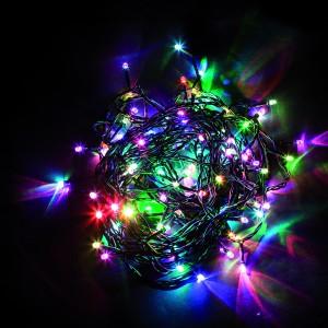 Светодиодная гирлянда Feron CL03 линейная 4м +1.5м 230V разноцветная c питанием от сети