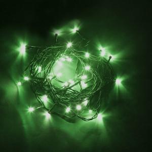 Светодиодная гирлянда Feron CL04 линейная 6м +1.5м 230V зеленый с питанием от сети