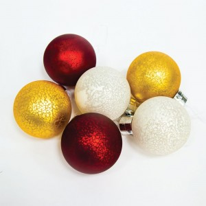 Световые фигуры. Цвет стекла: 2 шт. золотые, 2 шт. серебряные, 2шт. красные; 1,5V, 6LED (теплый белый),  батарейки 6*ААА, 1*CR2025, 0.03W, 8*10см, с контроллером, LT121