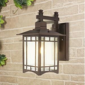 Vela D кофейное золото уличный настенный светильник GL 1019D